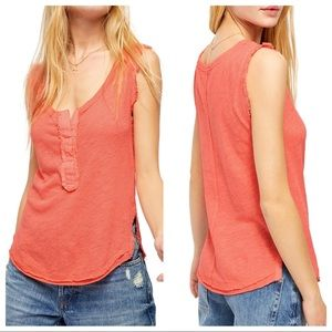 Free People Vacay Linen Blend Tank Top Pixie
